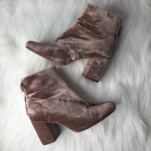 Zara Basic Collection Velvet Boots Size